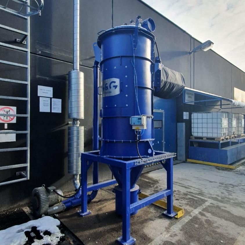 Extracción de polvo de aluminio