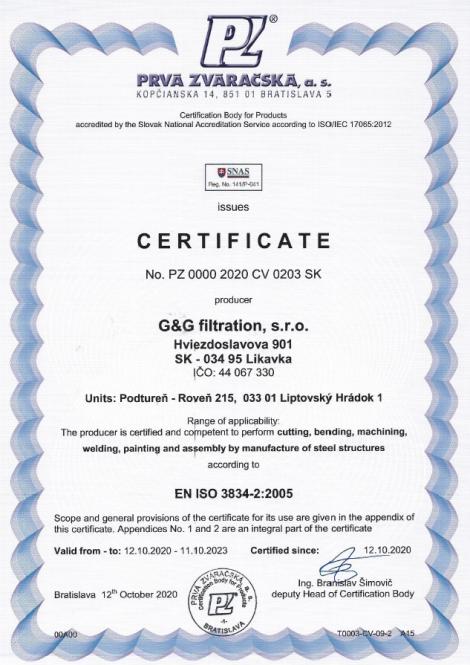 3834-2: 2005 Soldadura por fusión en la producción de estructuras de acero