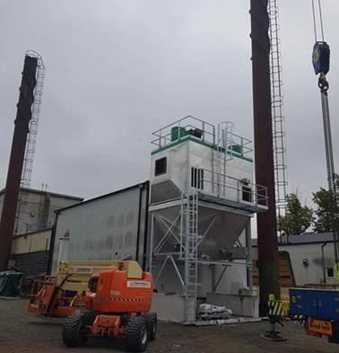 Filtración de gases de combustión de calderas de biomasa