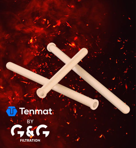 Elementos filtrantes de cerámica para filtrar gases calientes de combustión